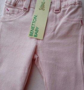 Джинсы стрейч для маленькой модницы фирмы Benetton