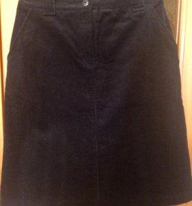 Новая вельветовая юбка р. 44-46
