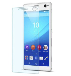 Защитное стекло 2.5D на Sony Xperia C4, (9H+)