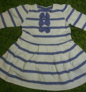 Платье на девочку 0-3мес
