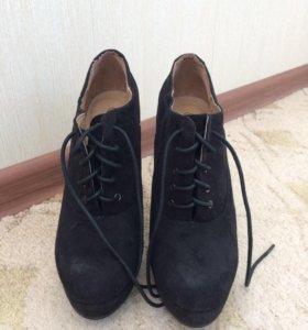 Ботильоны чёрные , каблук 15 см