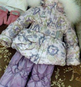 Продаю зимний комбинезон на принцессу!!!