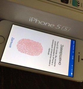 iPhone 5s 16gb белый РОСТЕСТ как новый