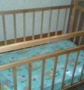 Кровать детская с матрасом 0+