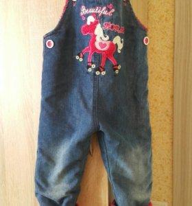 Комбинезон джинсовый 80-86