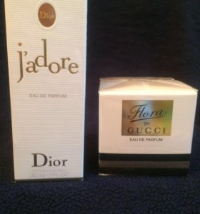 Flora by Gucci и J'adore Christian Dior оригинал!