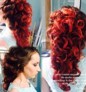 Плетение кос,(канекалон)Укладки,Прически!