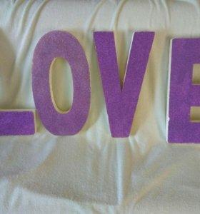 """Буквы для Фотосессии """"LOVE"""" (пенопласт)"""