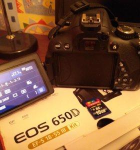Canon 650D, карта 16Гб, сумка, штатив