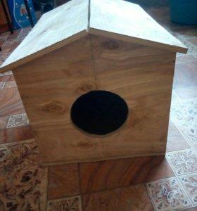 Домик для кошек-маленьких собак , ручной работы .