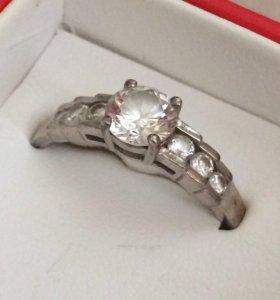 Кольцо серебряное 18 р-р