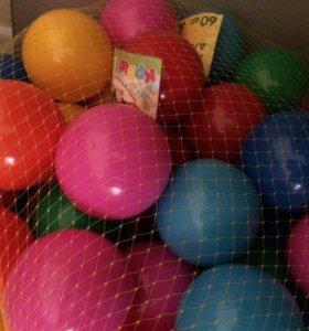 шары для сухого бассейна или игры 60 штук(новые)