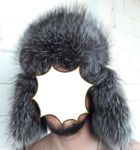 Шапка мужская чернобурка
