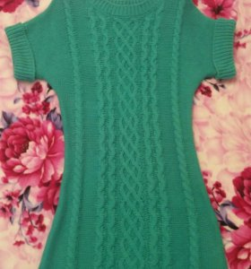 Вязанное платье- туника oodji