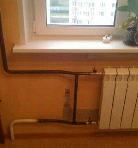Замена батарей отопления. Отопление коттеджей