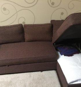 Диван-кровать с козеткой (IKEA)