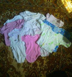 Вещи на малыша (боди,чепчики,костюмчики, кофточки)