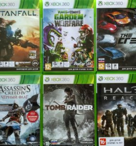Игры для Xbox 360 tomb raider assassins creed
