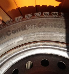 Колеса в сборе с зимними шинами Continental