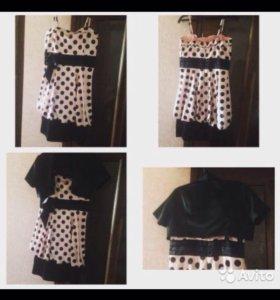 Платье новое , размер L, болеро в подарок