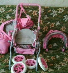Игрушечная детская коляска. Новая.