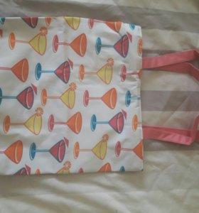 Летняя сумка, можно использовать как пляжную)
