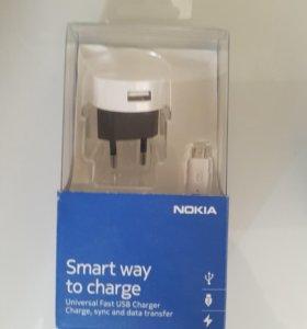 Оригинальная Зарядка Nokia micro usb новая