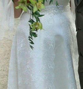 Платье свадебное, р.56-60