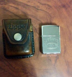 зажигалка Zippo с чехлом из натуральной кожи