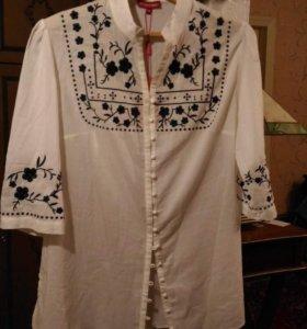 Новая женская блуза-рубашка WoolStreet