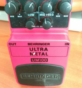 Гитарный эффект behringer ultra metal um100