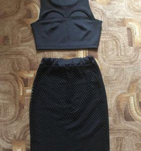 Костюм юбка+топ