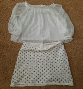 Костюм(юбка+блузка)