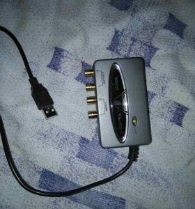 Внешняя звуковая карта USB 2 шт.