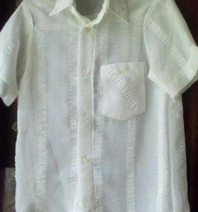 Белая рубашка на мальчика, 100р