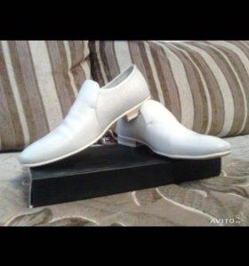 Туфли мужские светло-бежевые Paolo Conte