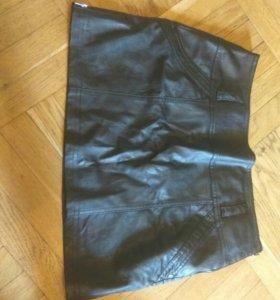 Кожаная юбка Promod