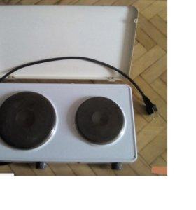 Двухконфорочная бытовая плита 2500W