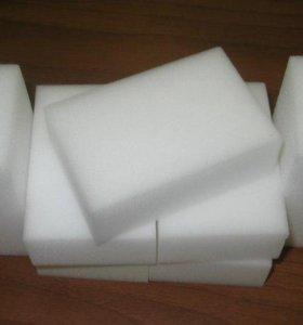 Меламиновые губки.большие. р-р 10х3х7 см