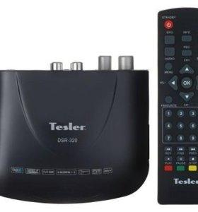Ресивер DVB-T2 с антенной,ТВ и HDMI кабелем