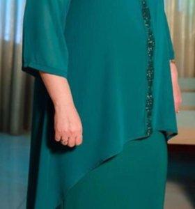 Платье и накидка вечерние,новое