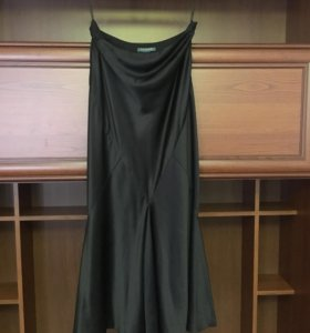 Чёрная шелковая юбка Ralph Lauren