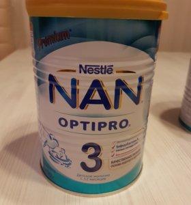 Детская смесь NAN Optipro 3 и NAN Optipro 4