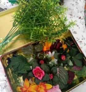 Цветы для топиария искуственные цветы
