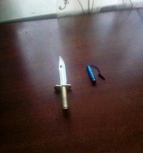 Нож ручка, стилус в комплекте