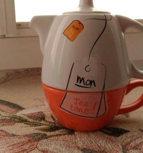 Заварочный чайник с чашкой