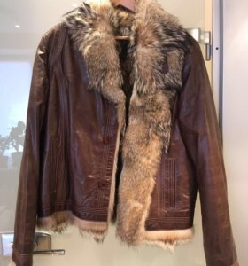 Куртка мужская, кожаная, размер 52, рост 180-185см