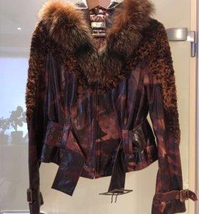Куртка женская, кожаная, размер 46, рост 160-163см