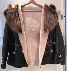 Куртка женская, кожаная, размер46-48,рост160-163см