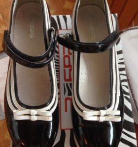 Туфли школьные фирмы Зебра